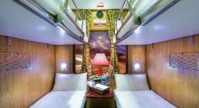 Inside a train to sapa